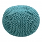 Preview: DIY Strick Kit RibbonXL Pouf Emerald Splash