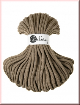 Bobbiny Cords 9mm 50 Meter Coffee