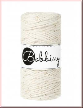 Bobbiny Macramé Cords 3mm Golden Natural