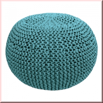 DIY Strick Kit RibbonXL Pouf Emerald Splash