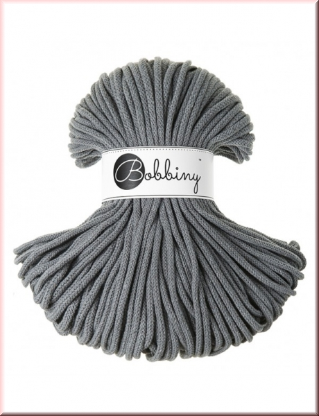 Bobbiny Cords 5mm 100Meter Steel